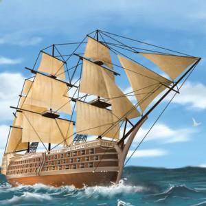 Ilustracion barco gulliver
