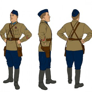 Officer-of-the-Red-Army-Aviations-in-the-summer-uniform-1941-color