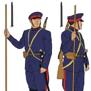Oficial-de-las-Fuerzas-Armadas---Soldado-unidades-montadas-Don-Cossack-COLOR